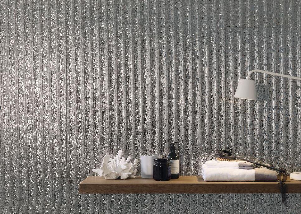 Płytki Srebrne Błyszczące Dekoracyjne Porcelanosa Columbia Silver 45x120
