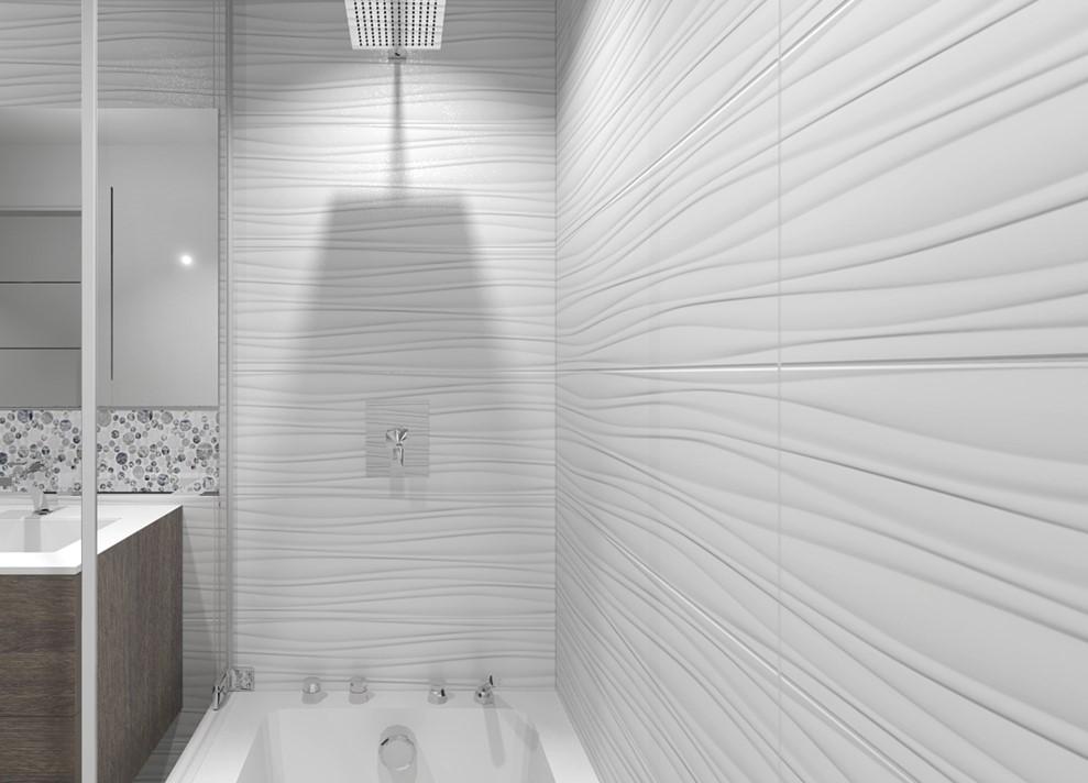 Płytki ścienne Białe Matowe 3d Fały Porcelanosa Oxo Line Blanco Xl P35800091 45x120 Biblioteka Glazury