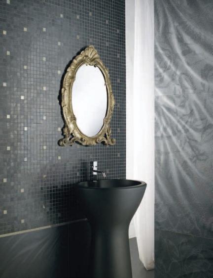 Gres Tkanina Czarna Czarne Elios Reflection Black 60x60