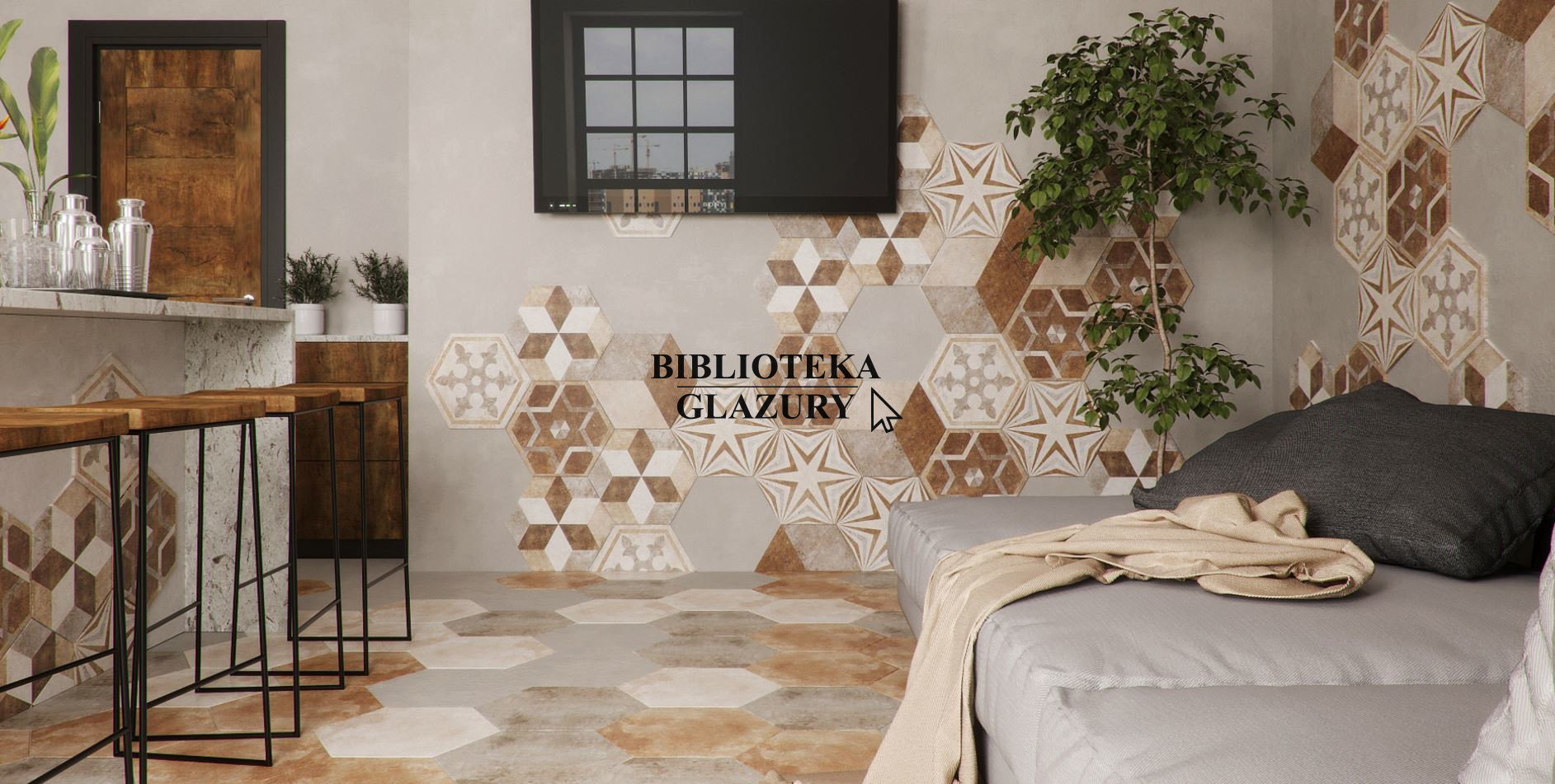 Płytki Heksagonalne Beżowe Fioranese Heritage Deco Texture 5 345 X 40