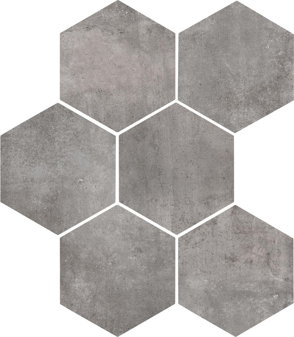 Gresy konkretnie betonowe heksagonalne szare marazzi clays for Zirconio tegels