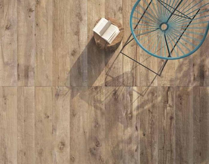 Płytki Tarasowe Naturalne Drewno Jasny Brąz Rustykalne Sęki Flaviker Dakota Avana 30x120 X20mm