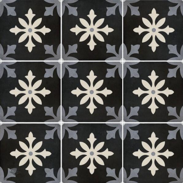 a64b1133619368 Płytki patchorkowe grafitowe Pamesa Art Degas Negro 22,3x22,3 dms ...