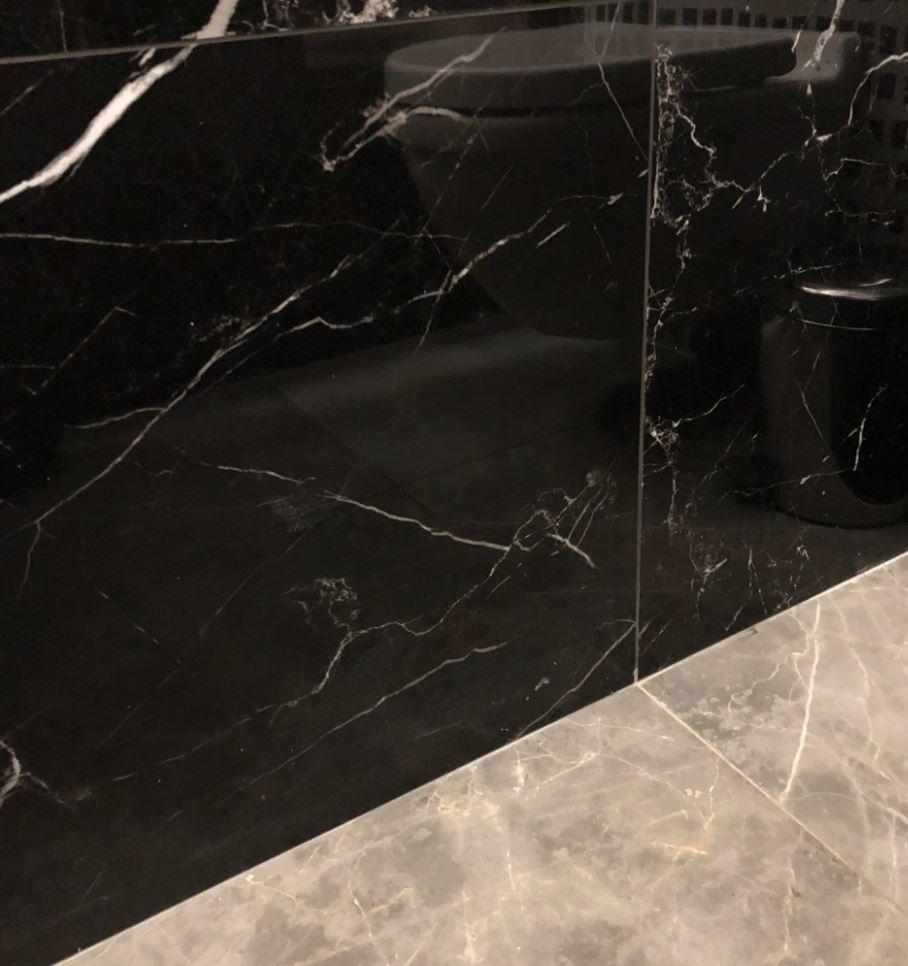 Gres marmur czarny z białą cięką żyłą Fioranese Marmorea Port Laurent Matte  75x150