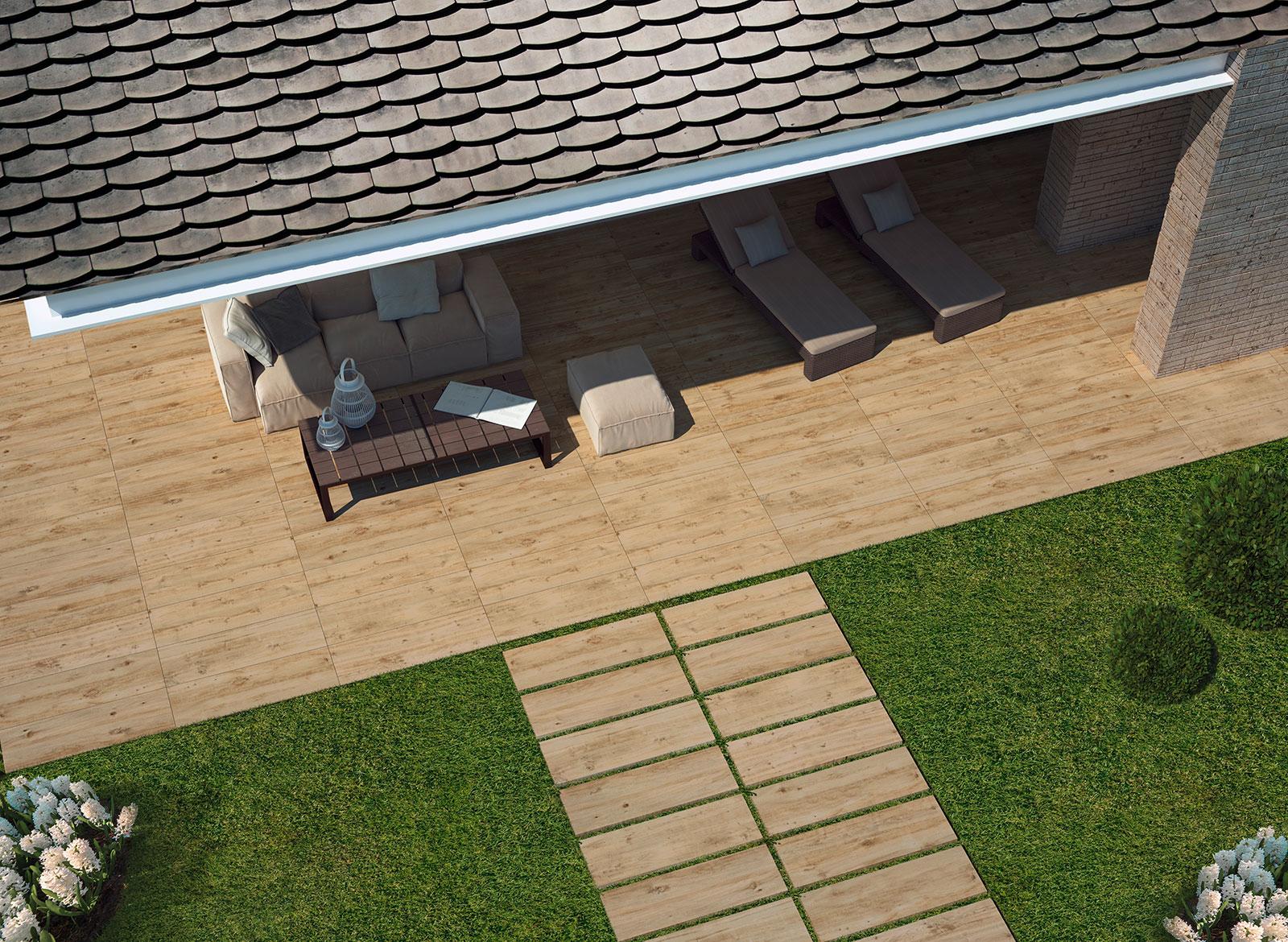 Płytki Drewnopodobne Tarasowe Treverkhome 20 Larice 40x120