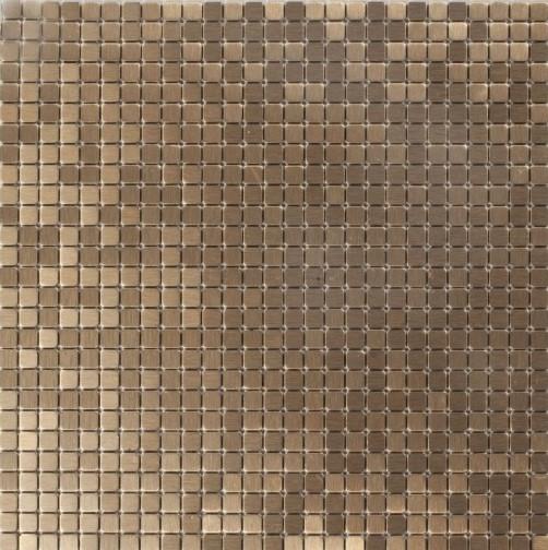 Mozaika Metal Złoto Miedziana Szczotkowana Dell Arte Brushed Cooper 30x30