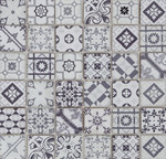 Mozaika kamień szkło szara patchwork Dell Arte Patch Glass Grey 30x30