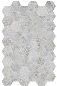 Płytki Hexagon Patchwork szare TerraTinta  BETONAXIS ESAGONA DECOR WHITE/GREY TTBAEWGMIX 21X18,2 ar