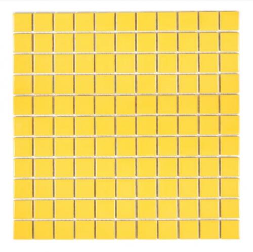Mozaika Mały Kwadrat Monokolor żółta Połysk Metropol Mm 522 330 X 302